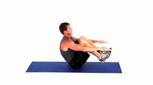 V-ups- Erkekler İçin Egzersiz