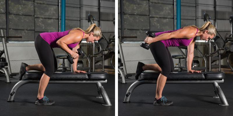 Triceps Kickback hareketinin yapılış şekli